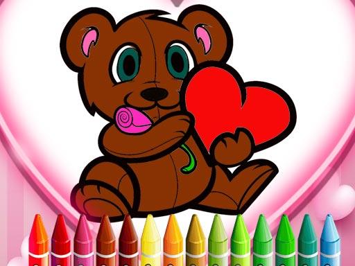 Animals Valentine Coloring