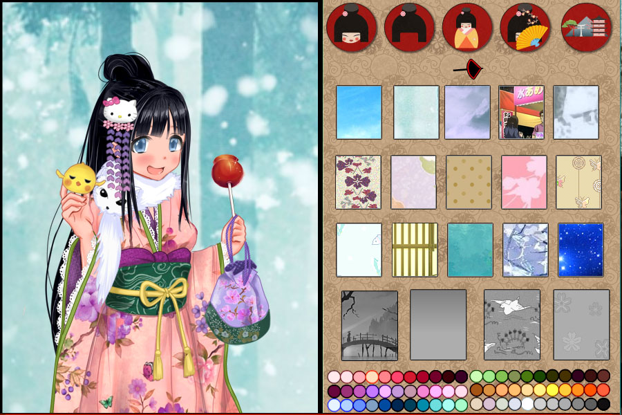 Play Anime Kimono dress up game | Free Online Mobile and