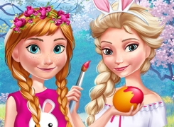 Anna And Elsa Easter Fun