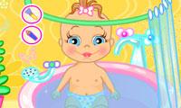 Baby Bathing: Time to Sleep