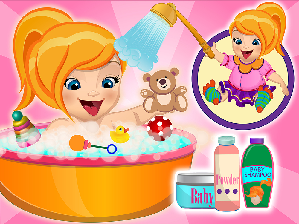 Baby Emma bath and care