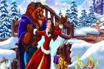 Belle And The Beast Christmas Jigsaw Puzzle