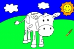 Blue Cow Coloring Book