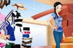 Blue White Stripes And Ribbon-belt Dresses