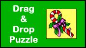 Candy Cane Drag & Drop Puzzle