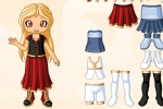 Cute Cartoon Girl Dress Up