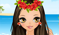 Cute Hawaiian Girl Dress Up