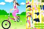 Cycling Girl Dress Up