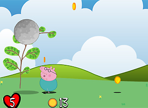 Daddy Pig in Avalanche