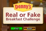 Denny's Real Or Fake Breakfast Challenge