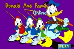 Donald Duck and Family Coloring Game