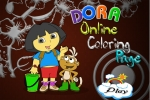 Dora Boots Online Coloring Page