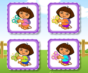 Dora Cute Butterfly Matching