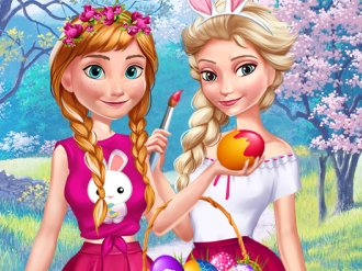 Elsa And Anna Easter Fun