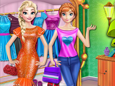 Elsa and Anna Shopping Time