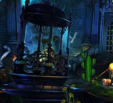Fantasy mask door
