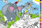 Funny Elephant Coloring