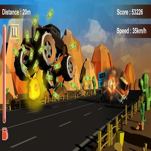 Furious Road Game : Low poly Car Racing