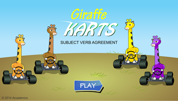 Giraffe Karts Subject Verb