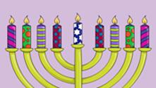 Hanukkah Lights Coloring