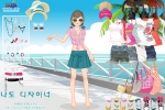 Hawaiian Beach Girl Dressup