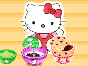 Hello Kittys ChocChip Jelly Muffins