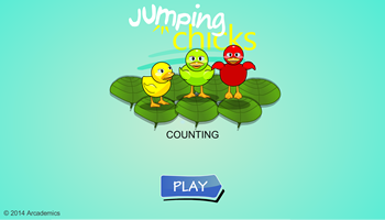 Jumping Chicks Counting