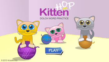 Kitten Hop Words