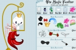 Magic Feather Coloring Dressup