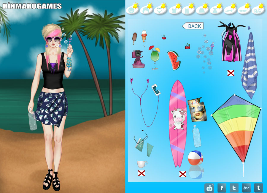Mega summer dress up game