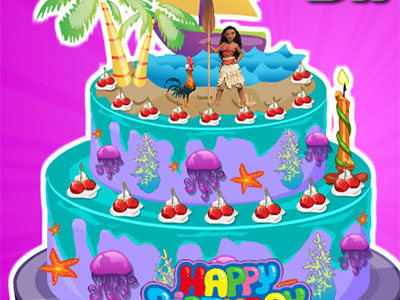 Moana Birthday Cake Decor