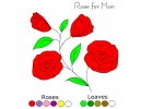 Mother's Day Colouring Roses