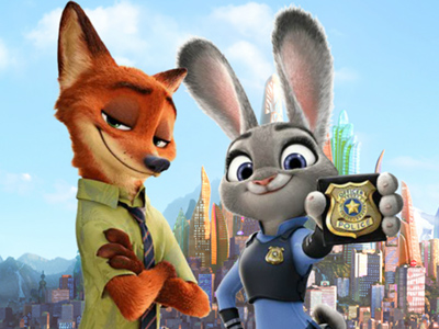 Nick and Judy Searching for Clues