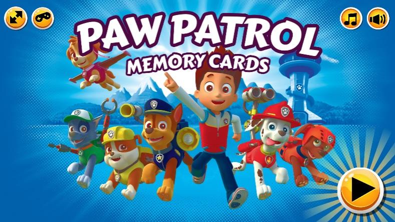 Paw Patrol Memory Cards
