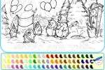 Penguin Happy New Year Coloring