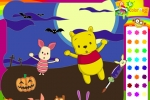 Piglet And Winnie The Pooh Halloween Coloring