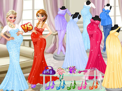 Pregnant Princesses Fashion Dressing Room!