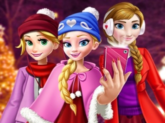 Princess Christmas Selfie