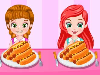 Princess Hotdog Eating Contest