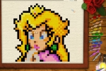 Princess Peach Embroidery