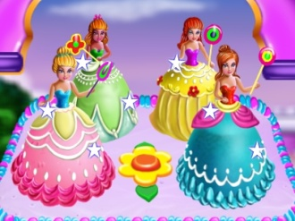 Princesses Cake Cooking