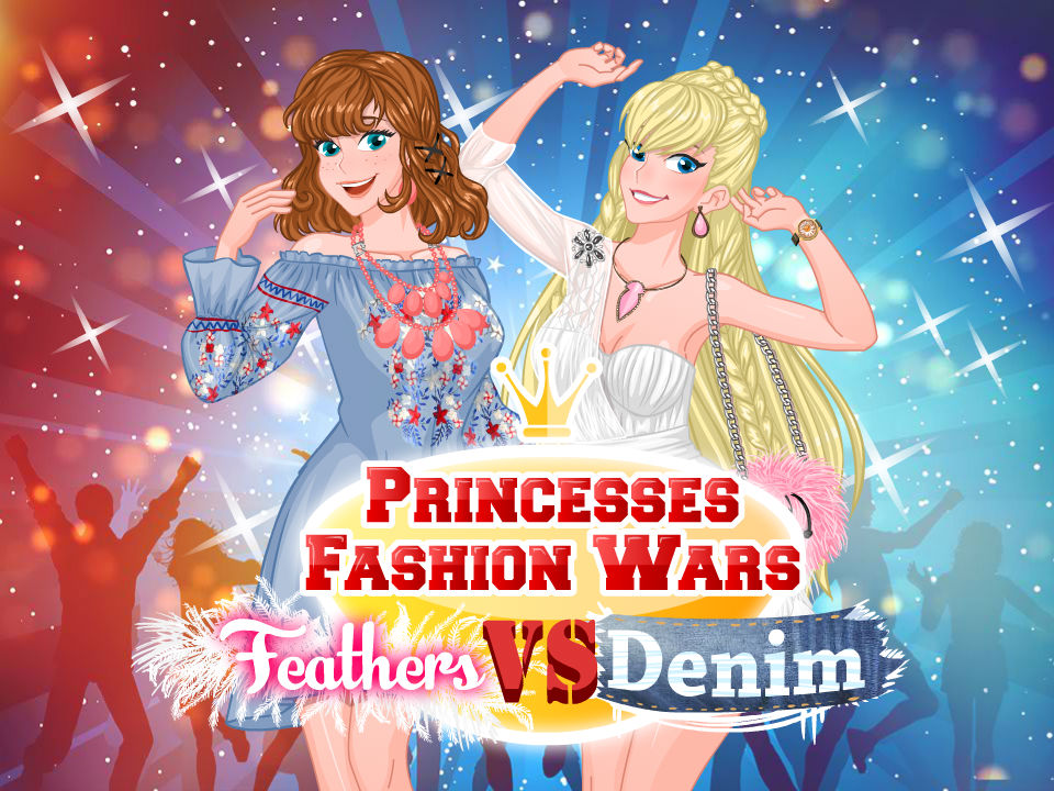 Princesses Fashion Wars Feathers VS Deni