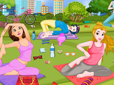 Princesses Summer Yoga Cleaning