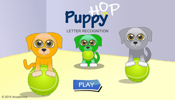 Puppy Hop Letters