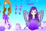 Purple Butterfly Girl Dress up