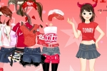 Red Sports Fashion Dress-up