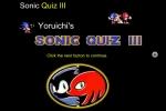 Sonic Quiz 3