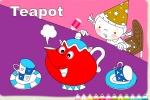 Teapot Party Coloring