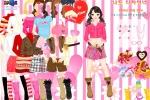 Valentine Pink Dressup