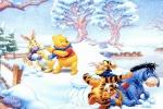 Winnie the Pooh Snowball Fight Jigsaw